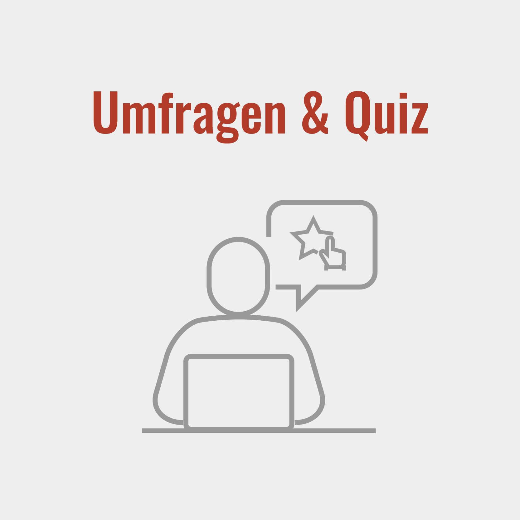 Umfragen und Quiz