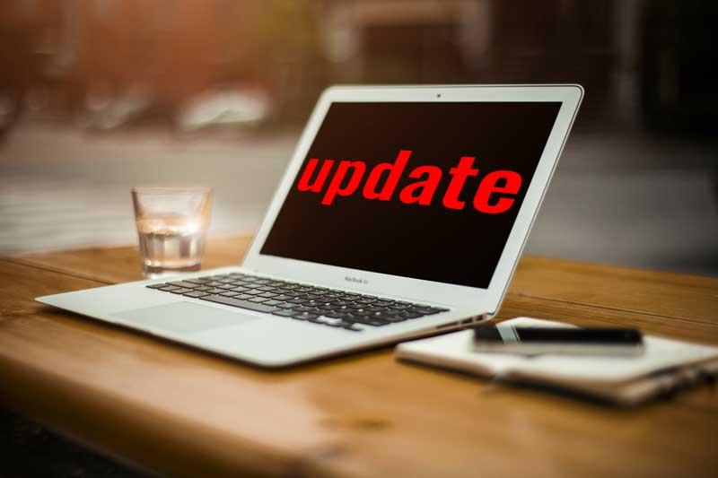 Webseiten-update